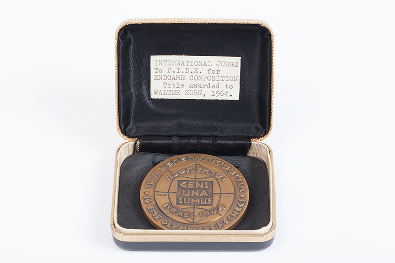 Walter Korn's Honorary Medal from the 1964 Chess Olympiad