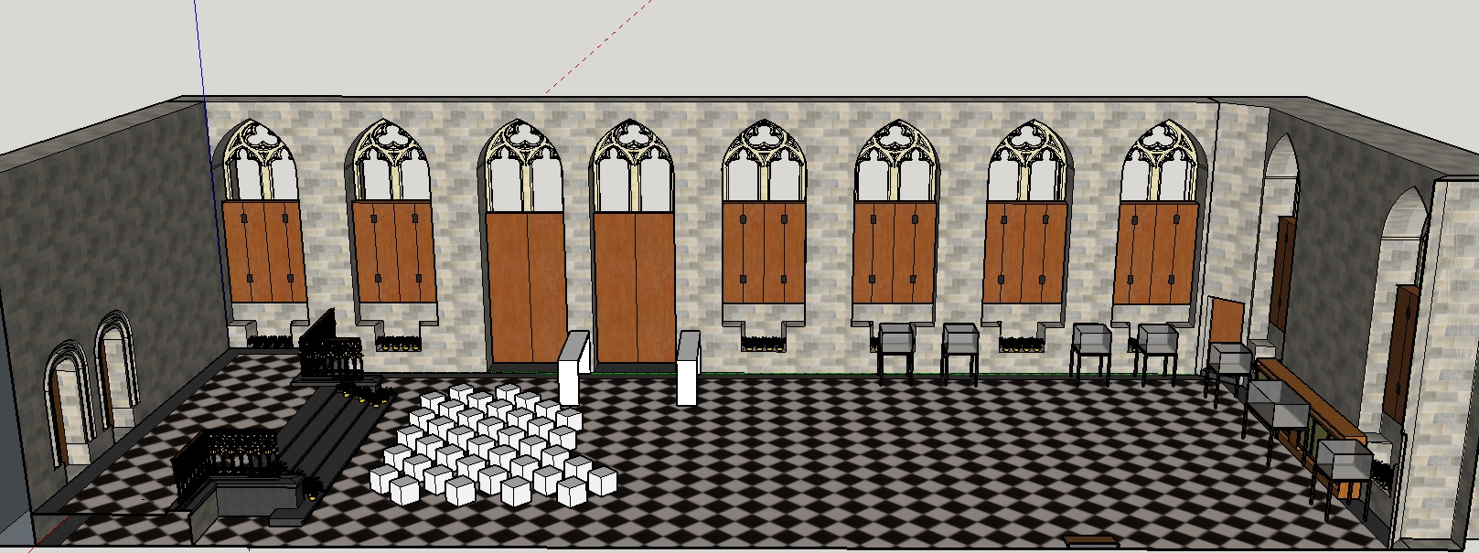 Sketchup Layout for the Leuven Playing Hall
