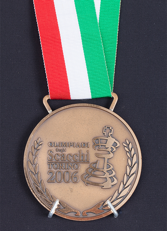 International Master John Donaldson's Team Bronze Medal from the 2006 Chess Olympiad