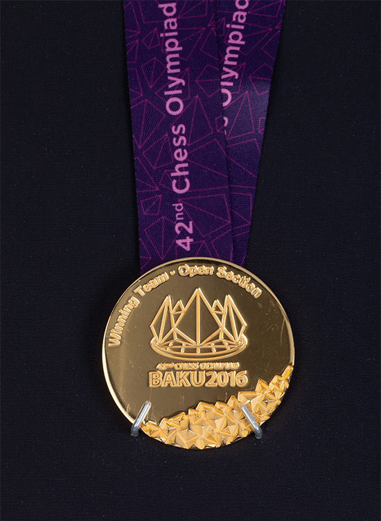 International Master John Donaldson's Team Gold Medal from the 2016 Chess Olypmiad
