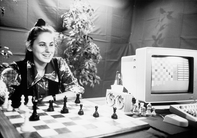 Judit Polgar Playing Against a Chess Computer