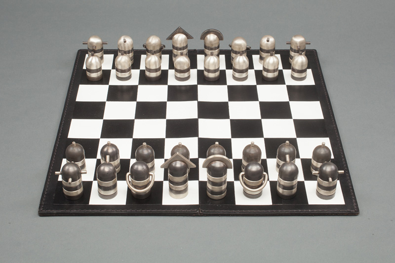 Tiffany & Co. Silver Chess Set and Board