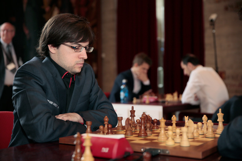 Maxime Vachier-Lagrave Competes during Blitz Day One of the 2016 Your Next Move Grand Chess Tour