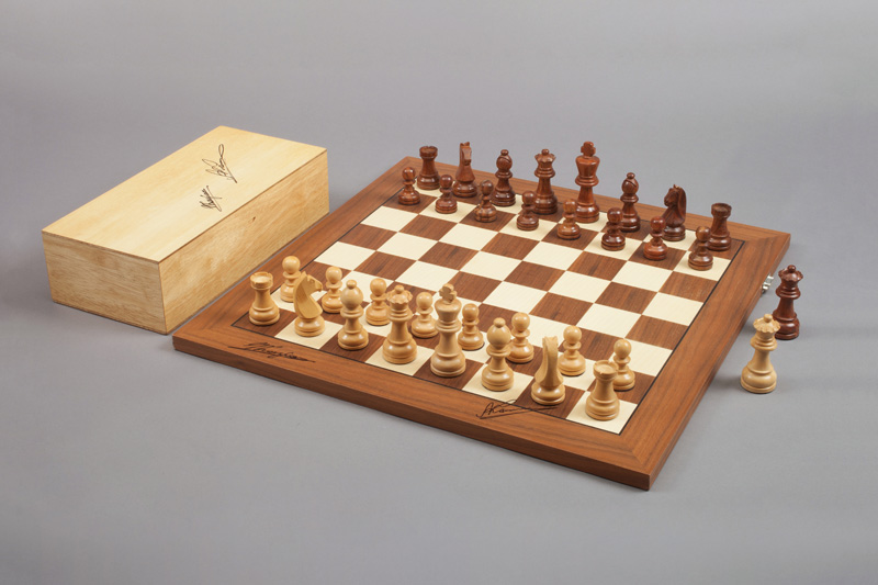 Kasparov/Karpov Signature Board, 2002