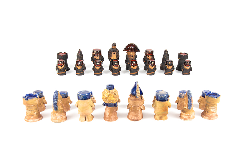 Napoleonic Chess Set, date unknown