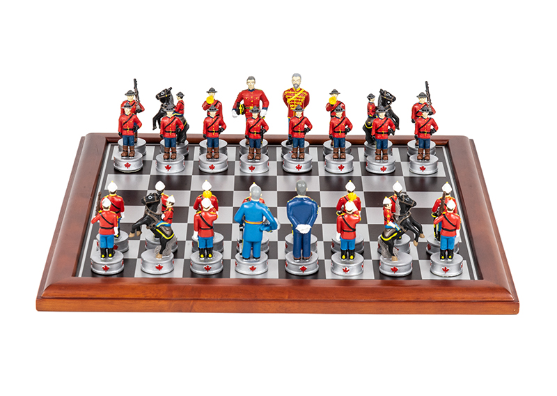 Royal Canadian Mounted Police Chess Set, date unknown