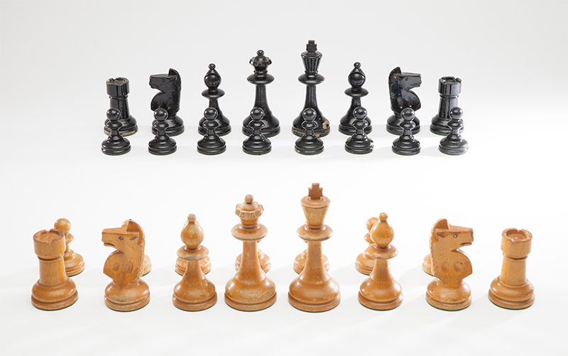 William T. Pinney, Pinney Club Size Chess Set, c 1930s-1950s