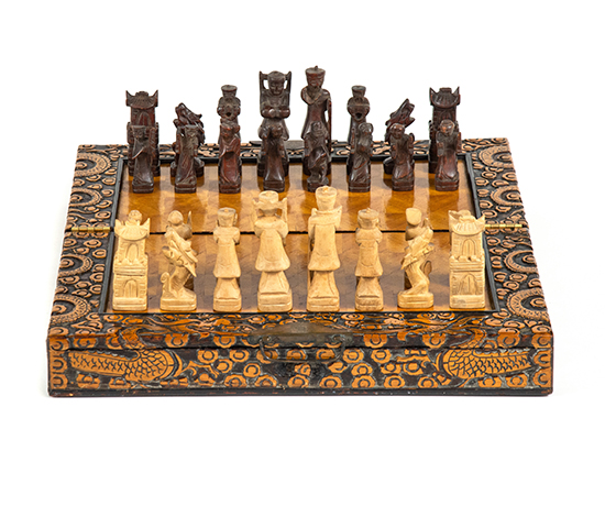 Hand-Carved Chess Set, c. 1960