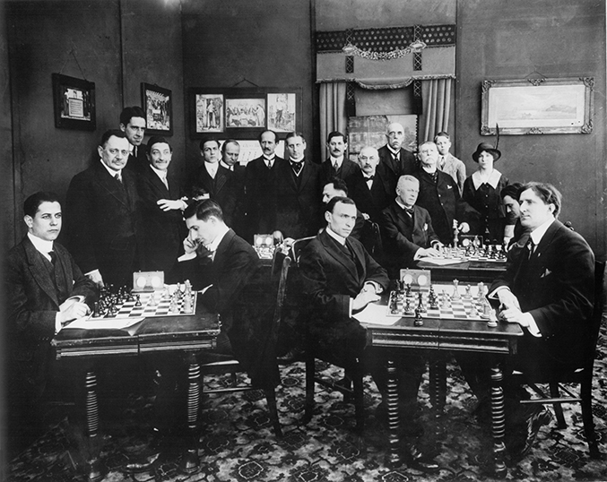 Competitors Playing in the 1915 New York Masters Tournament
