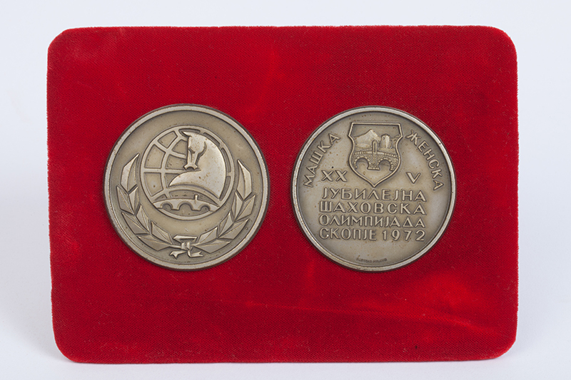 Grandmaster Walter Browne's Individual Bronze Medals from the 1972 Chess Olympiad