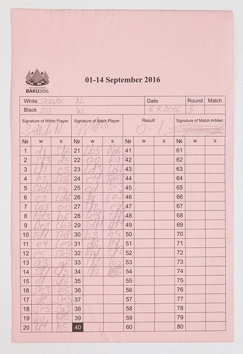 Scoresheet from Round 5 of the 2016 Olympiad