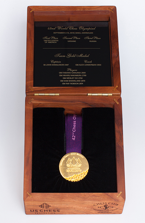 GM Wesley So's Team Gold Medal from the 2016 Olympiad