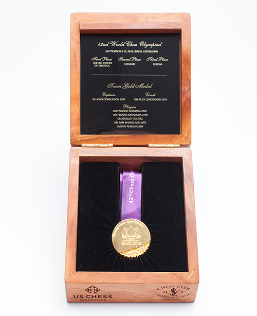 IM John Donaldson's Team Gold Medal from the 2016 Olympiad