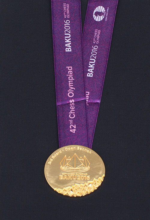 GM Wesley So's Individual Gold Medal from the 2016 Olympiad