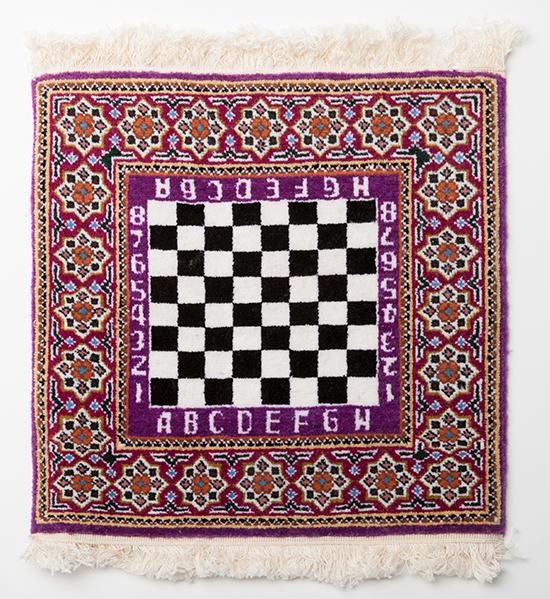 Commemorative Azerbaijani Rug Chessboard