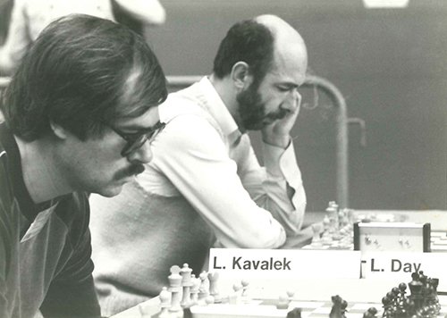 GMs Walter Browne and Lubomir Kavalek at the 1982 Olympiad