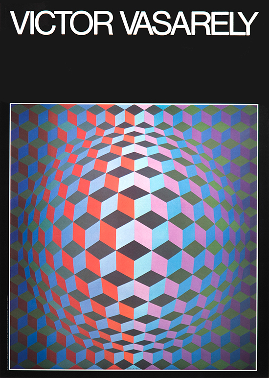 Vasarely Exhibition Poster, Cheyt-G, 1986