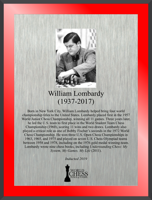 William Lombardy's Plaque