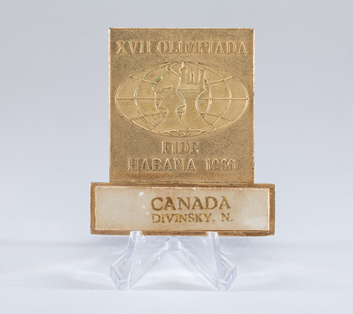 FM Nathan Divinsky's Press Badge from the 1966 Olympiad
