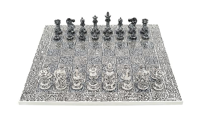 Mr Doodle, Graffiti Spaghetti Chess Set, 2018