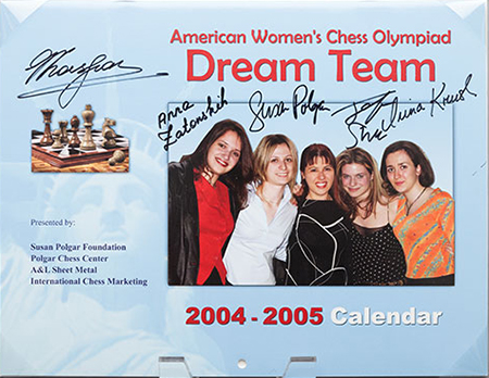 Dream Team Calendar from the 2004 Chess Olympiad, Calvià, Majorca, Spain