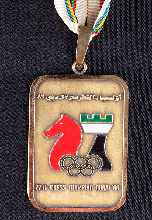 Team Bronze Medal from the 1986 Olympiad