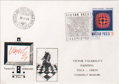 Envelope with Stamps from the Vasarely Museum, 1979