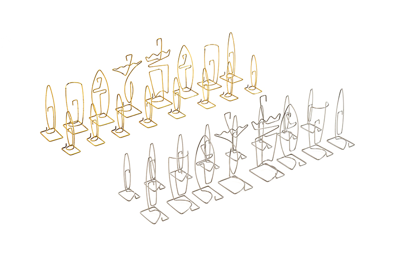 Wire Chess Set, 1955