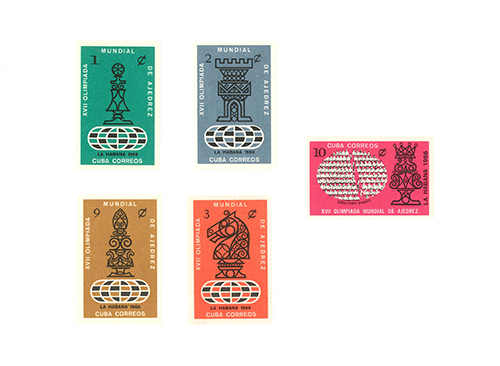 Five Stamps from the 1966 Olympiad