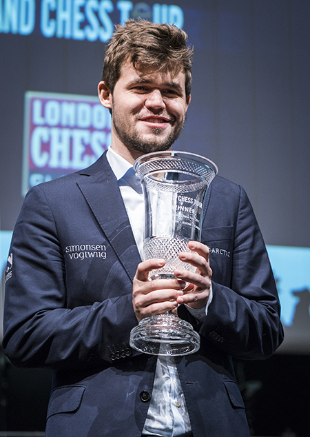 Magnus Carlsen, Winner of the 2017 Grand Chess Tour