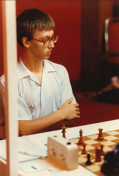 GM Gata Kamsky at the 1992 Olympiad