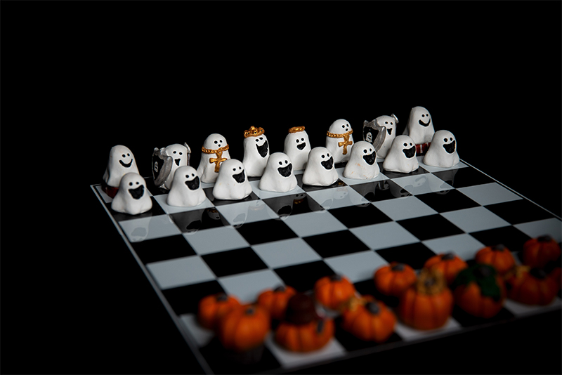 Pumpkin vs. Ghost Chess Set, 2018