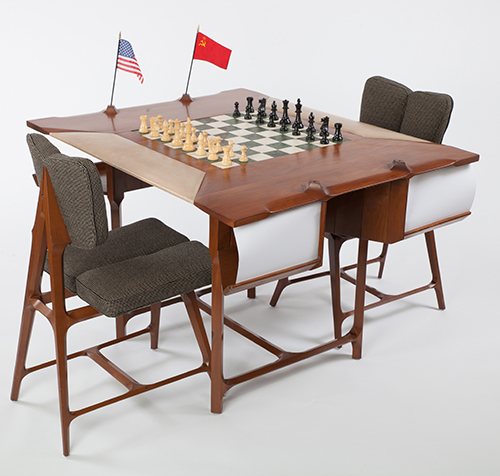 Chess Table from the 1966 Havana, Cuba, Chess Olympiad