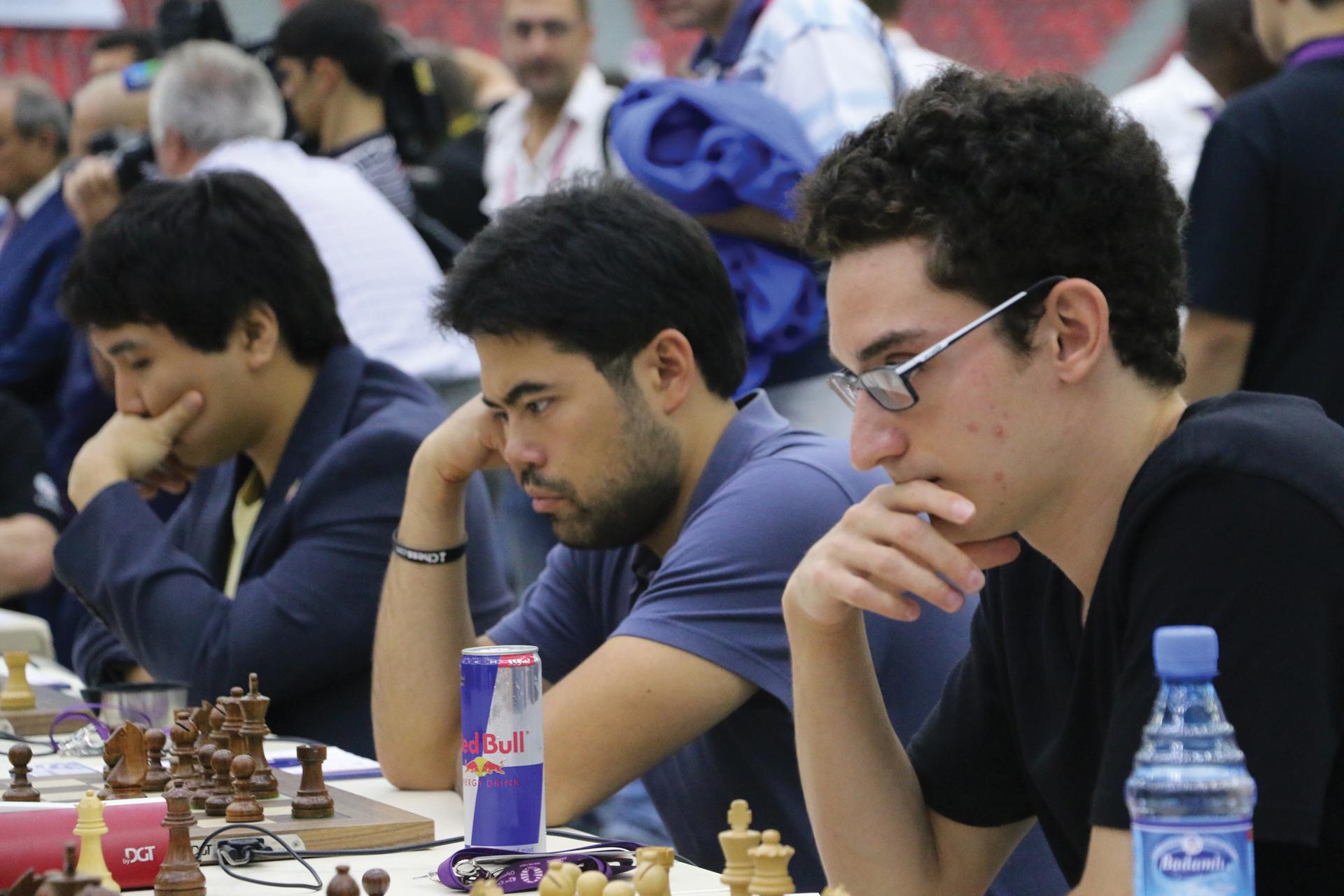 GMs Wesley So, Hikaru Nakamura, and Fabiano Caruana Compete in the 2016 Baku, Azerbaijan, Chess Olympiad