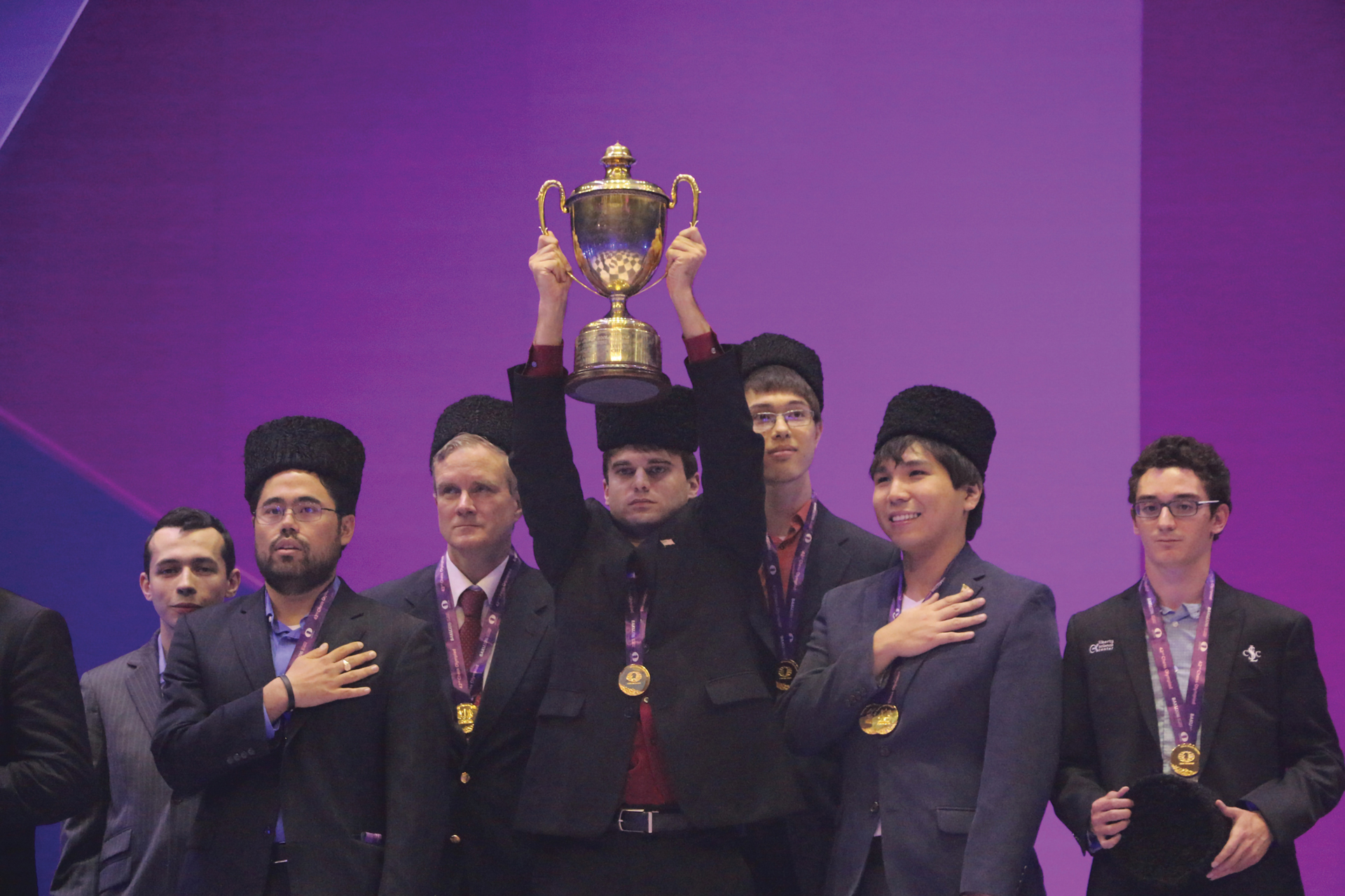 2016 American Olympiad Team with Trophy