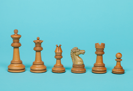 "British Chess Company ""Improved Royal"" Set, 1900"