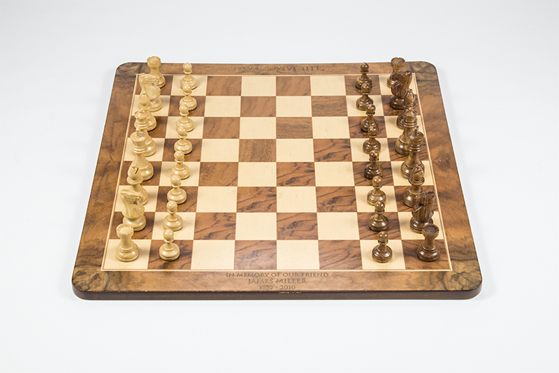 The James Game Chess Set and Board, 2010
