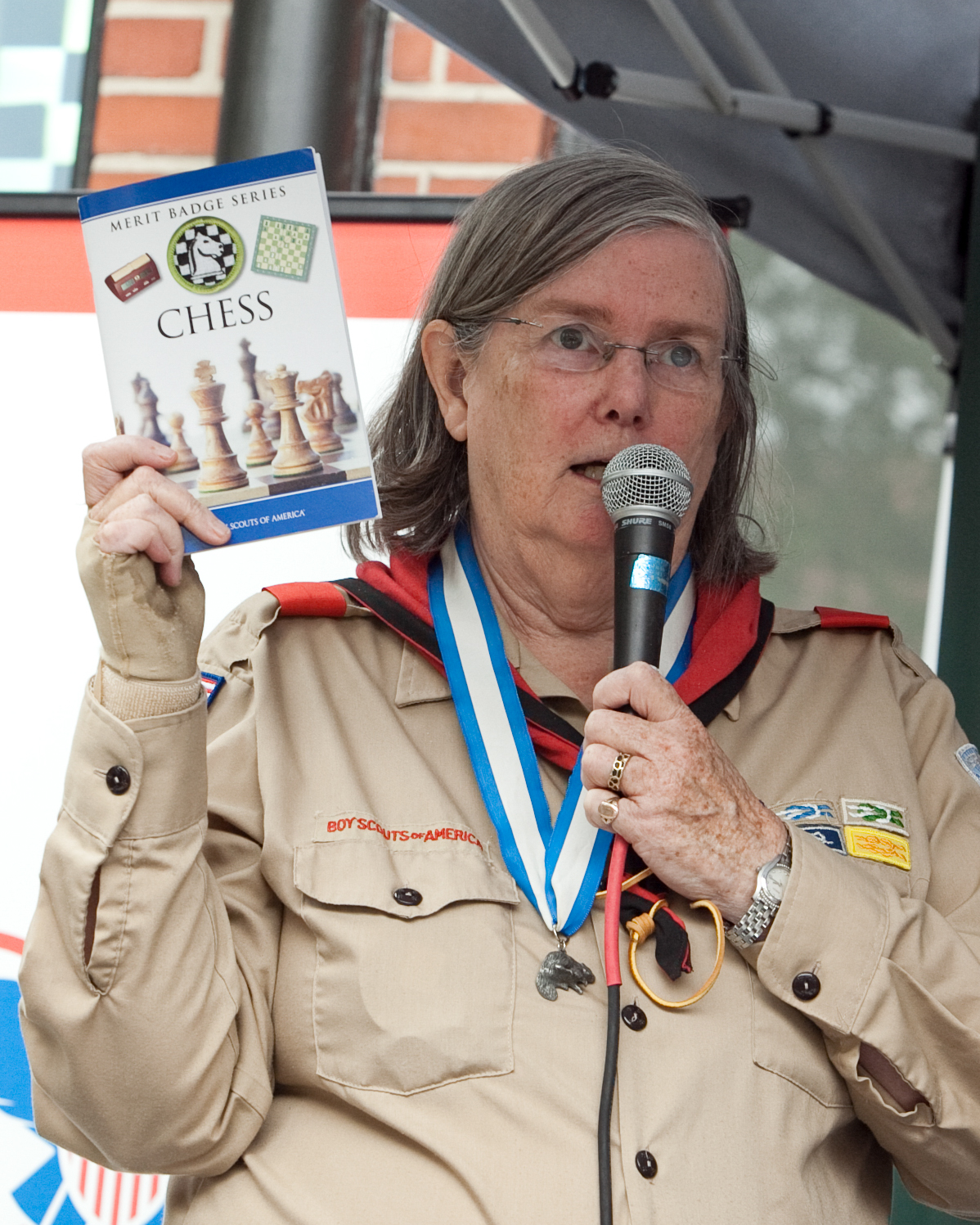 Dr. Jeanne Cairns Sinquefield at a Scouts BSA Event