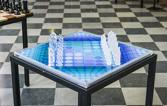 Victor Vasarely, A Perplexus Chess Set and Board (Edition 210/1500), 1978