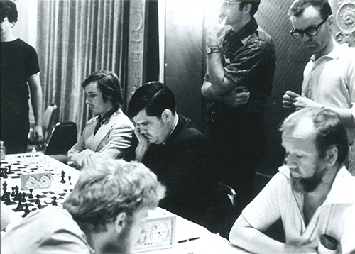 William Lombardy Playing Blitz against Asa Hoffmann at the Manhattan Chess Club, Date unknown