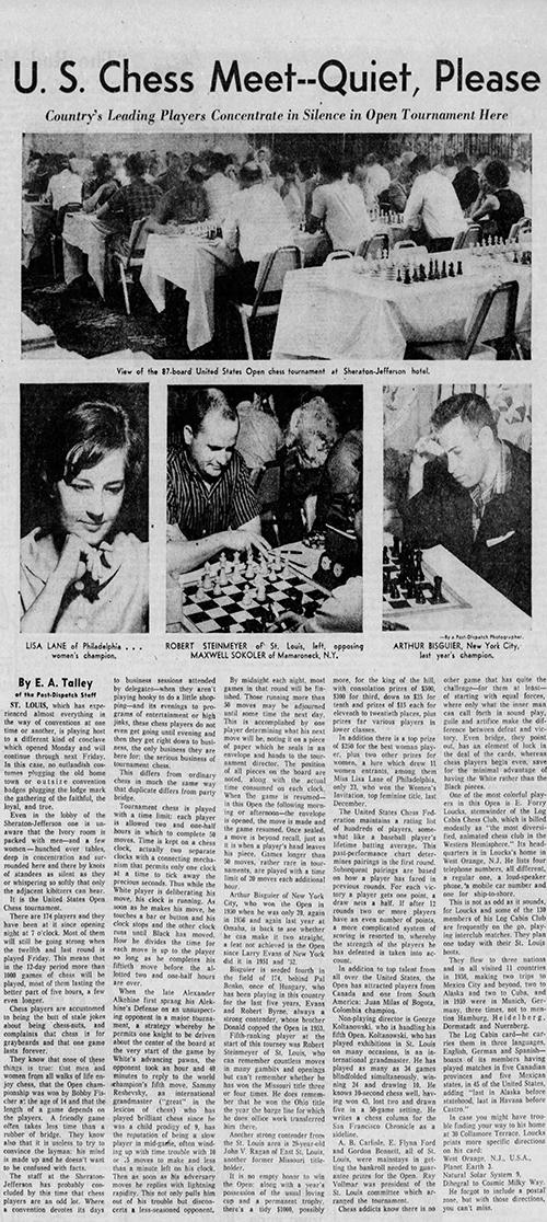 """U.S. Chess Meet—Quiet, Please"""