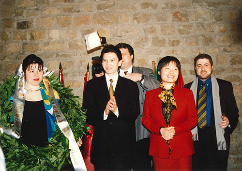 Susan Polgar at the Awards Ceremony for the 1996 Women's World Chess Championship