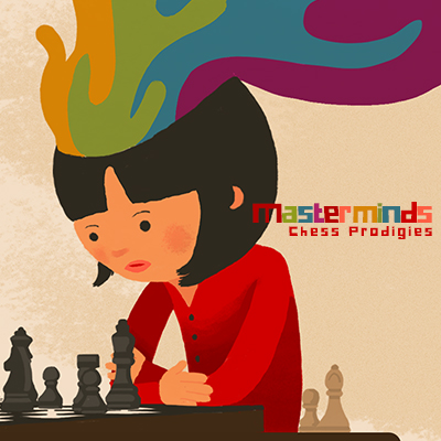 Masterminds Chess Girl Red Rainbow