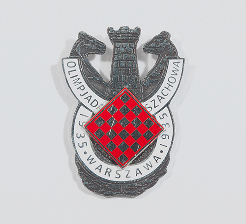 Reproduction of a 1935 Warsaw Olympiad Pin