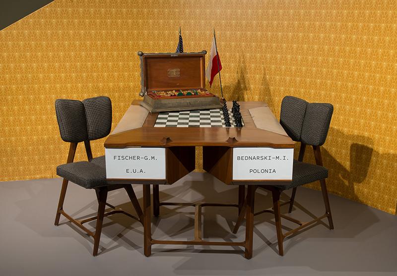 Havana 1966 Olympiad Set with Chess Table from the 1966 Havana, Cuba, Chess Olympiad