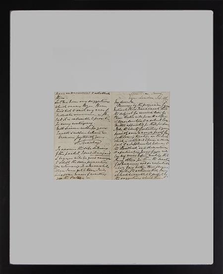 Staunton Handwritten Letter, 1857