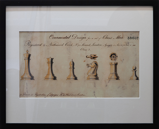 Staunton Pattern Registration Drawing, 1849