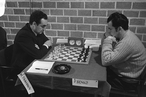 Hoogovens Beverwijk Tournament, GM Mark Taimanov vs. GM Pal Benko