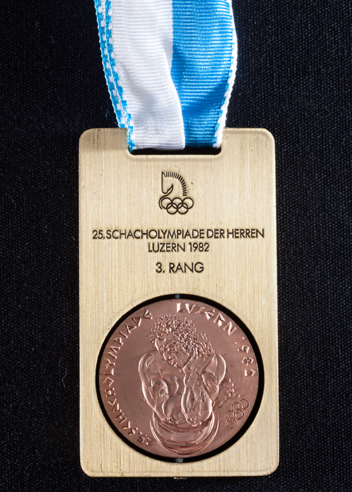 GM Jim Tarjan's Team Medal from the 1982 Olympiad