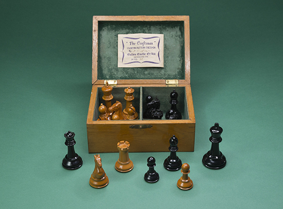 """""""The Craftsman"""" Staunton Pattern Chessmen, 1940s"""